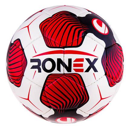 Мяч футбольный CordlySnake Ronex (UHL), красный, фото 2