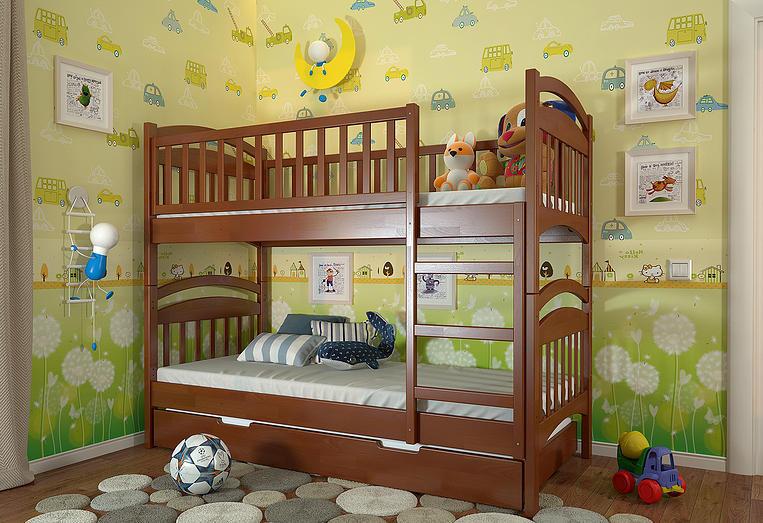 """Кровать двухъярусная детская """"Смайл"""" TM ArborDrev, фото 5"""