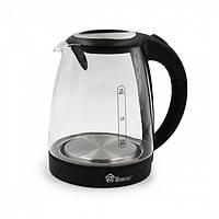 Дисковый электрический чайник Domotec MS-8110 С подсветкой Чёрный, фото 1