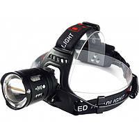 Налобный аккумуляторный светодиодный фонарь T30 диод P50, фото 1