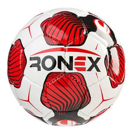 Мяч футбольный DXN Ronex (UHL), красно-белый, фото 2