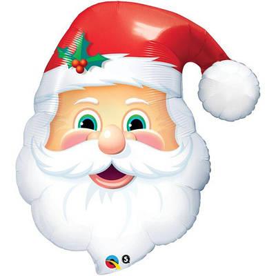 """Q 32"""" Jolly St. Nick. Шар воздушный фольгированный Веселый св. Николай. Новогодние шары, В УП"""