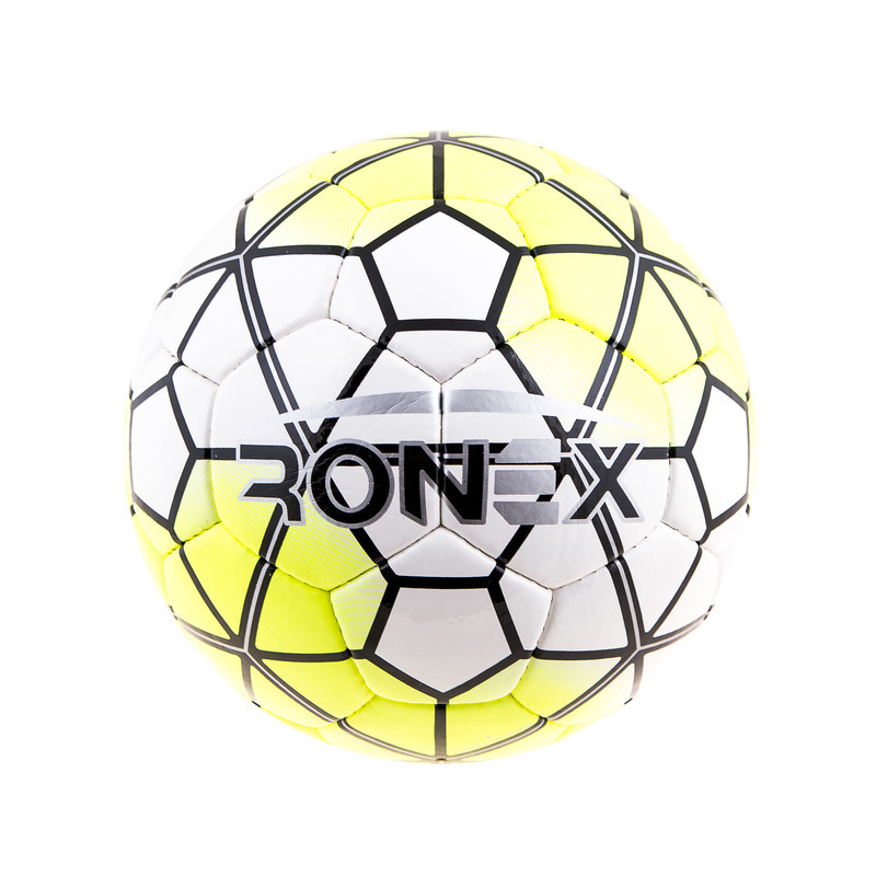 Мяч футбольный DXN Ronex(NK), белый/желтый