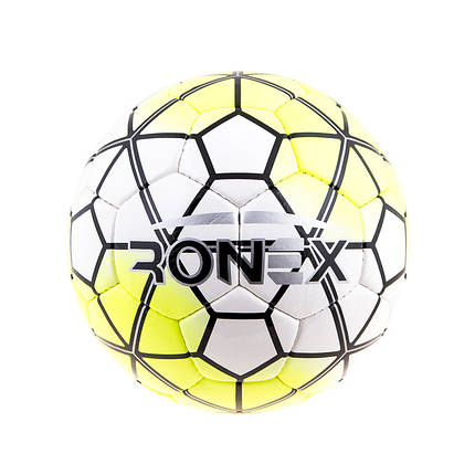 Мяч футбольный DXN Ronex(NK), белый/желтый, фото 2