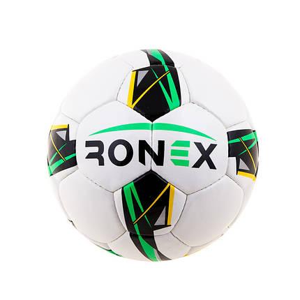 Мяч футбольный DXN Ronex(JM), бело/зеленый, фото 2