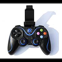 Беспроводной Bluetooth джойстик Gen Game V8 Чёрный с синим, фото 1