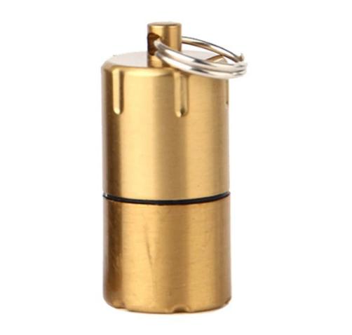 DOLPHIN Зажигалка-брелок компактная мини бензиновая зажигалка золотая