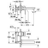 Смеситель для раковины скрытого монтажа Grohe BauLoop 20289000, фото 2