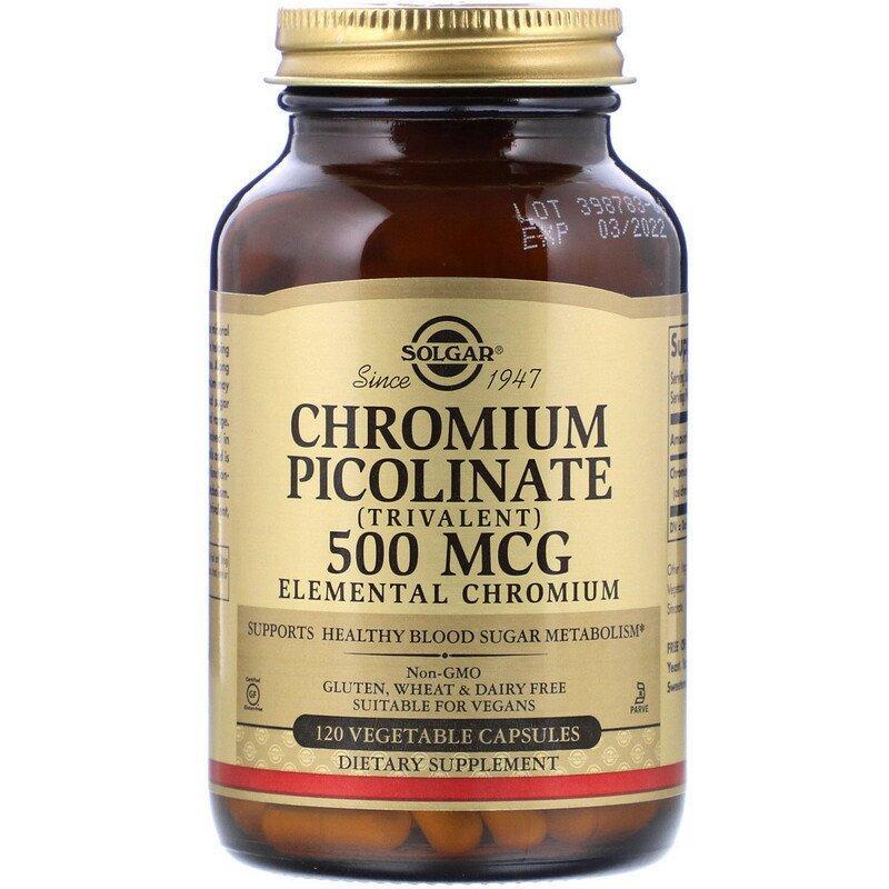 "Пиколинат хрома SOLGAR ""Chromium Picolinate"" 500 мкг (120 капсул)"