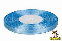 Лента атласная нежно-голубая 0,6 см длина 33 м бобина