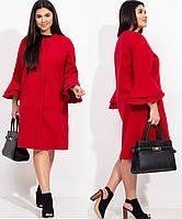 Кашемірове пальто жіноче прямого крою 46-48 50-52,54-56,58-60, фото 1