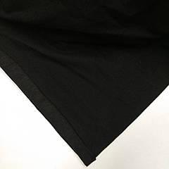 Стрейч-кулир начес Черный- плотность 250г/м.