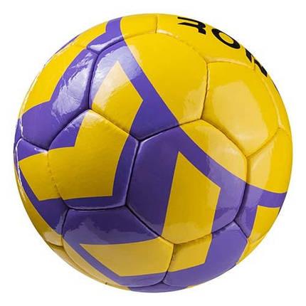 Мяч футбольный DXN(YW) Ronex(HUM), желтый/сиреневый, фото 2