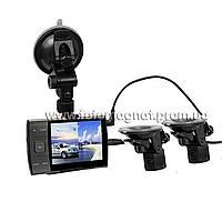 Автомобильный видеорегистратор DVR  S3000 A+ 2 камеры-присоски(хороший видеорегистратор автомобильный)