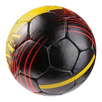Мяч футбольный Grippy G-14 AC Roma, черно/желтый/красный, фото 2