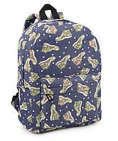 Рюкзак молодежный синий кеды 41*28*12см
