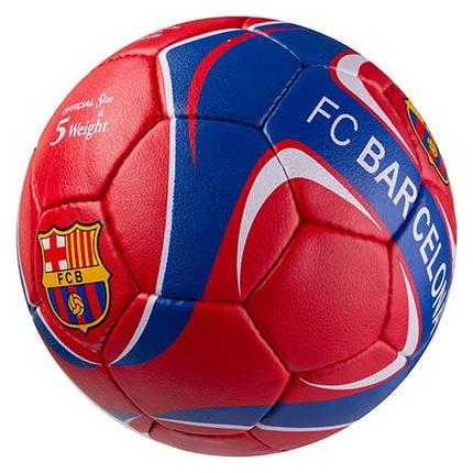 Мяч футбольный Grippy G-14 FC Barca 5, красн/синий, фото 2