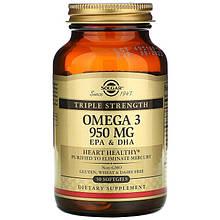 "Рыбий жир SOLGAR ""Omega 3 EPA & DHA"" тройная сила, 950 мг (50 капсул)"