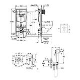 Комплект Grohe инсталляция Rapid SL 38772001 + набор для гигиенического душа со смесителем BauClassic 2904800S, фото 2