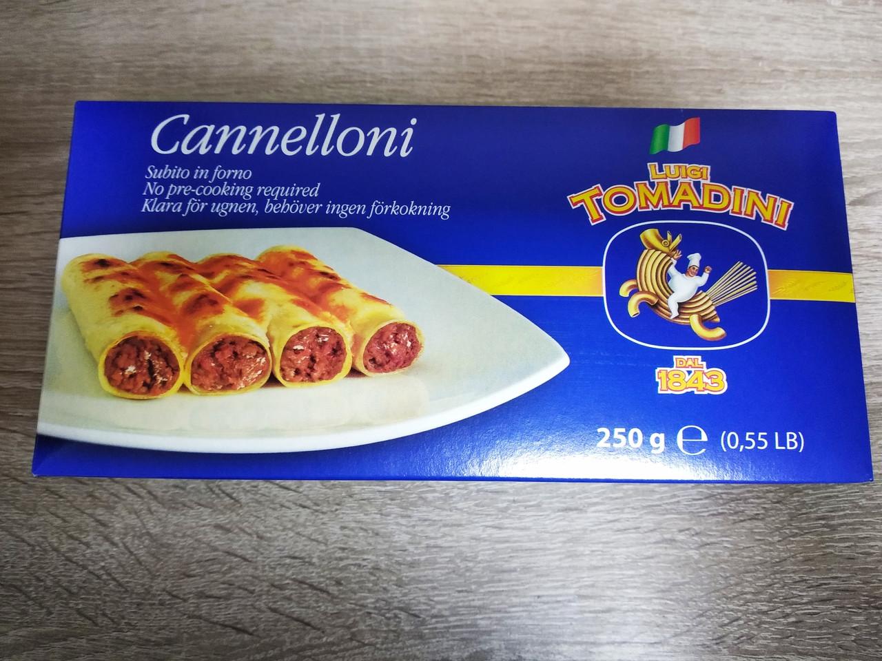 Каннеллоні Luigi tomadini cannelloni 250 гр.