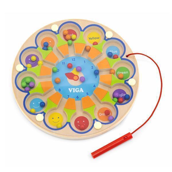 Магнитный лабиринт Viga Toys Часы (59980)