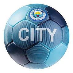Мяч футбольный Grippy G-14 Manchester 1 City, синий/голубой