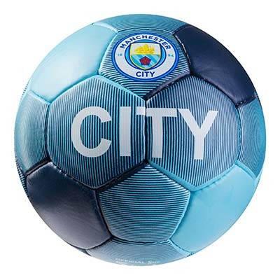 Мяч футбольный Grippy G-14 Manchester 1 City, синий/голубой, фото 2
