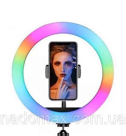 Кольцевая лампа RGB-260 26 см световое кольцо для селфи, фото 2