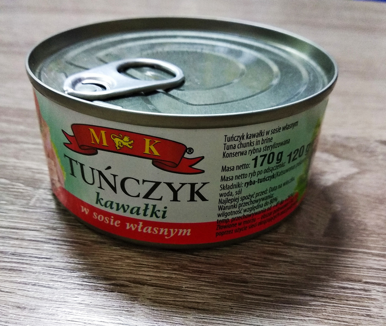 Тунець МK Tunczyk куском у власному соці 170 гр.