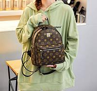 Женский городской рюкзак в стиле Луи Витон мини рюкзачок Louis Vuitton эко кожа качественный модный