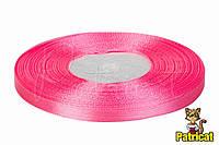 Лента атласная ярко-розовая 0,6 см длина 33 м бобина