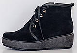Ботинки замшевые женские зимние большого размера от производителя модель РМ316, фото 4