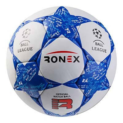 М'яч футбольний Grippy Ronex FN2, синій, фото 2