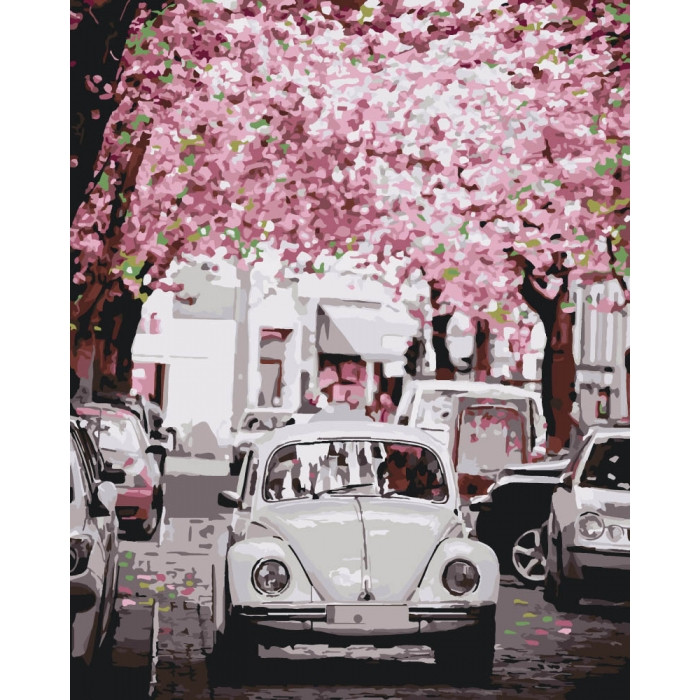 Картина за номерами Міський пейзаж Volkswagen Beetle 40х50 см Ідейка, КНО3521, 303817