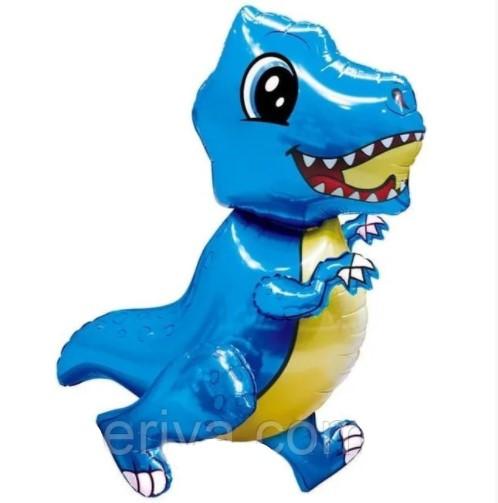 """Шар-ходячка """"Динозавр голубой"""" 92смх57см"""