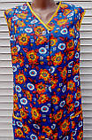 Летний халат без рукава 48 размер Оранжевые цветы, фото 7