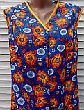 Летний халат без рукава 48 размер Оранжевые цветы, фото 10