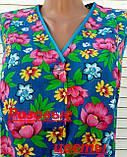 Летний халат без рукава 50 размер Розовые цветы, фото 9