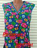 Летний халат без рукава 50 размер Розовые цветы, фото 10