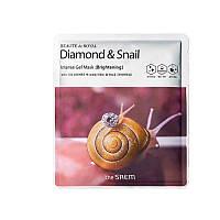Маска с алмазом и муцином улиткиThe Saem Beaute de Royal Diamond & Snail Intense Gel Mas