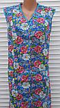 Летний халат без рукава 52 размер Цветы, фото 6
