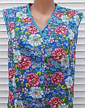 Летний халат без рукава 52 размер Цветы, фото 7