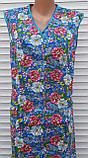 Летний халат без рукава 52 размер Цветы, фото 8