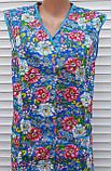 Летний халат без рукава 52 размер Цветы, фото 9