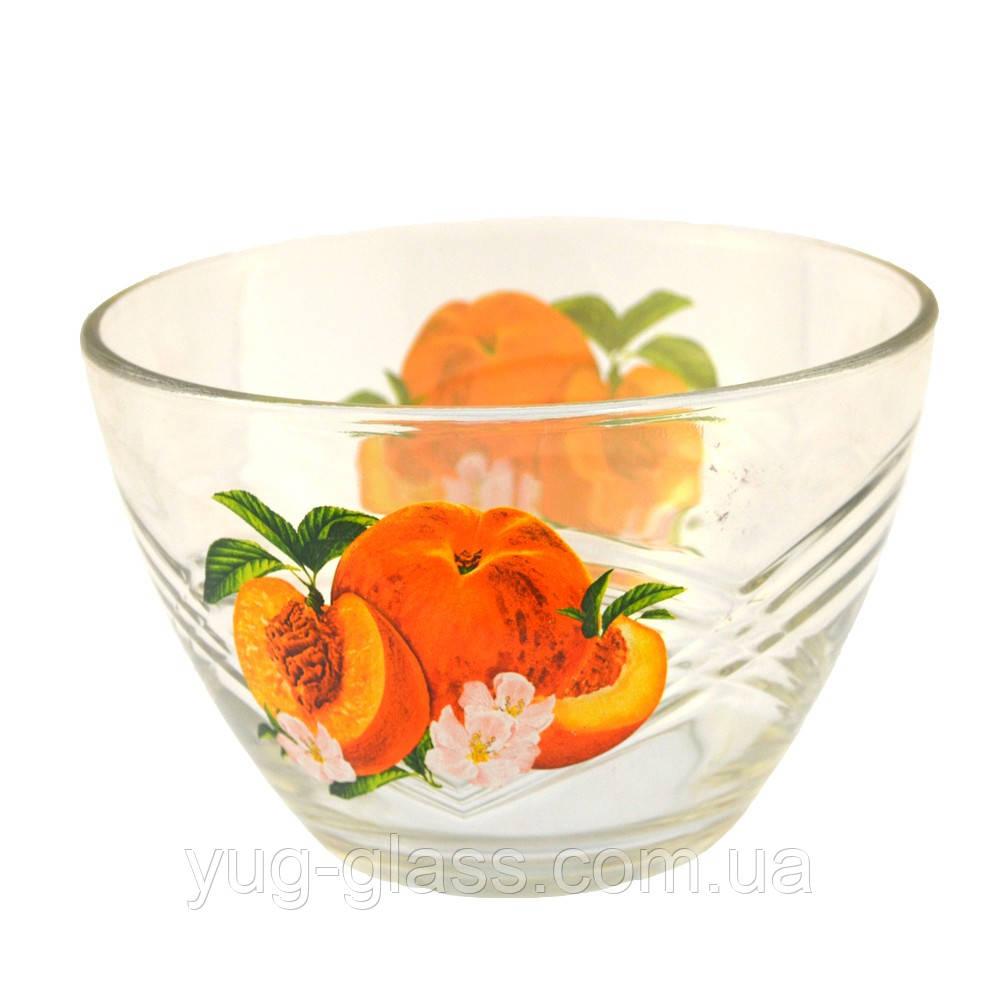 """Салатник стеклянный 18 см (7с1329) """"Сидней"""" рисунок фрукты в ассортименте., фото 1"""