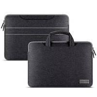 Сумка для ноутбука Laptop Sleeve текстильная темно-серая, фото 1