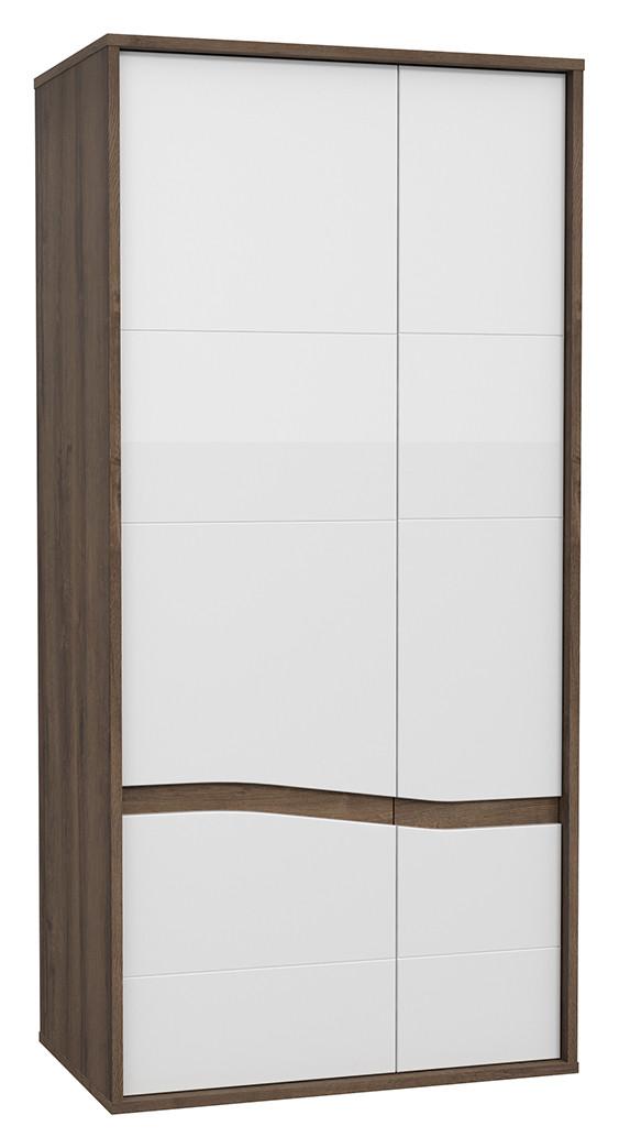 Шкаф двухдверный платяной WHSS821-C104 WHITE SEA Forte дуб благородный/белый глянц