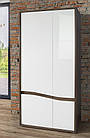 Шкаф двухдверный платяной WHSS821-C104 WHITE SEA Forte дуб благородный/белый глянц, фото 3