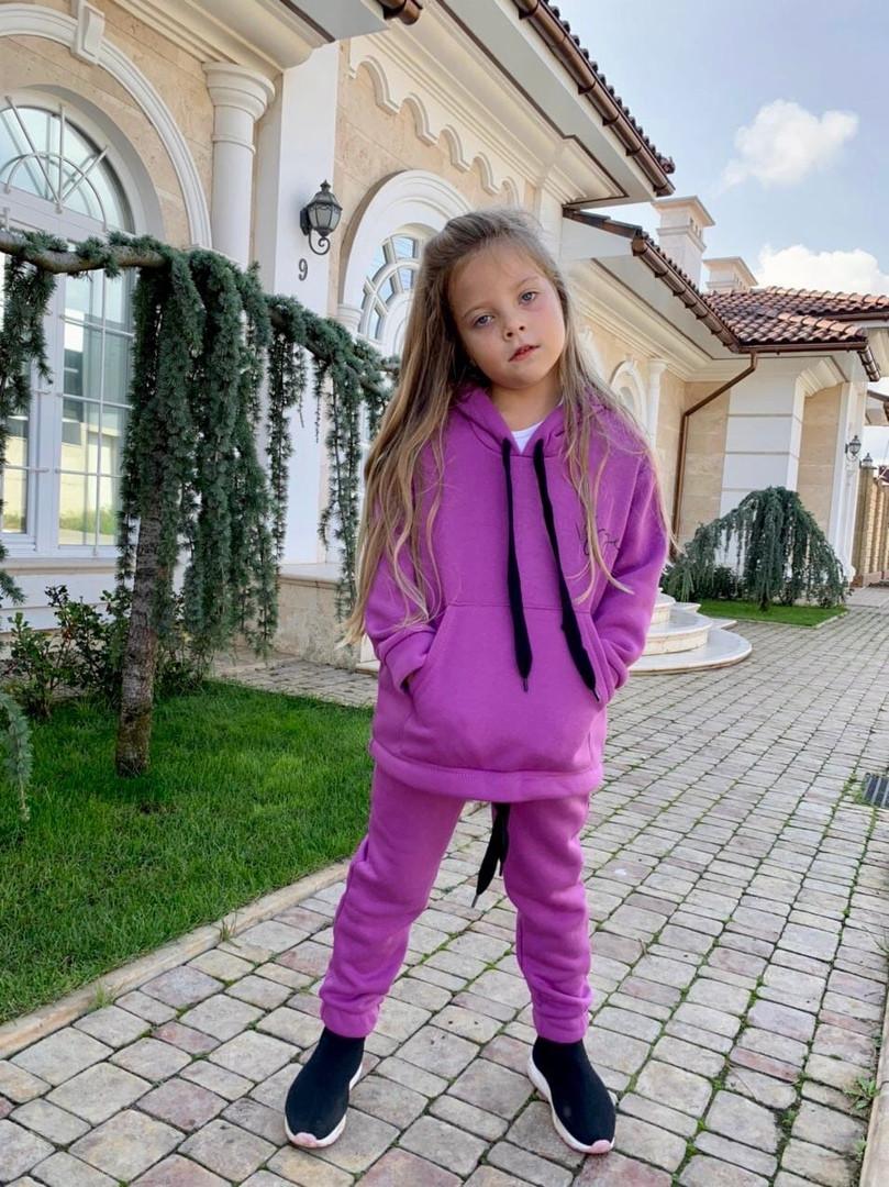 Детский теплый костюм батник и штаны трехнить размер: 122, 128, 134, 140