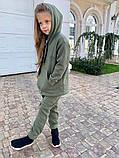 Детский теплый костюм батник и штаны трехнить размер: 122, 128, 134, 140, фото 7